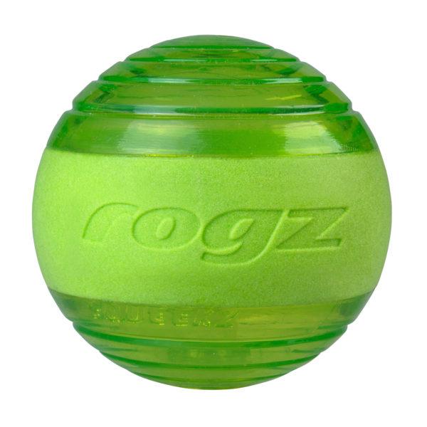 rogz-balle-jouet-squeekz-vert-lancer